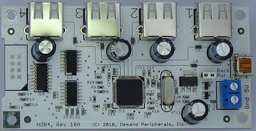 4 port usb hub circuit diagram